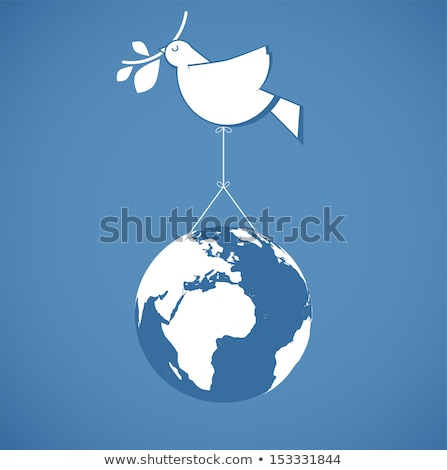 dove with peace sign on wire Stock photo © adrenalina