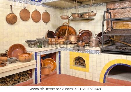 Hanging Clay Mexican Pots Stock photo © BrandonSeidel
