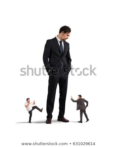 violent · patron · faible · affaires · grand · homme - photo stock © alphaspirit