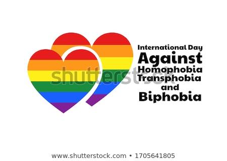 regenboog · steeg · tekst · homo · trots - stockfoto © nito