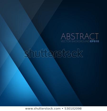 absztrakt · kék · kockák · valósághű · 3D · virág - stock fotó © swillskill