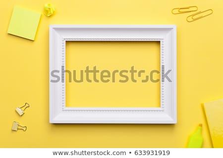 School Accessories with White Frame on Yellow Background  Stock photo © Bozena_Fulawka