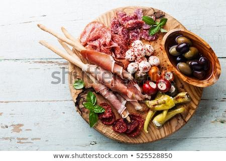 Frio carne prato pão topo Foto stock © Yatsenko