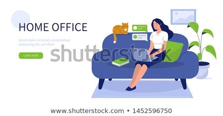 vrouw · vergadering · computerruimte · mensen · kantoor · groep - stockfoto © monkey_business