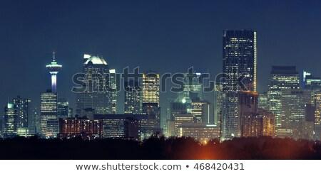 Centrum calgary nacht gebouwen af water Stockfoto © pictureguy
