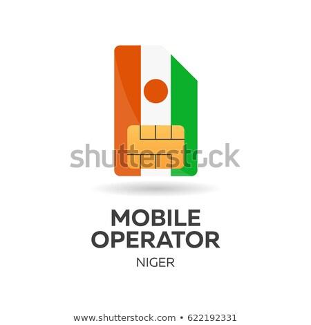Mobile operatore carta bandiera abstract design Foto d'archivio © Leo_Edition
