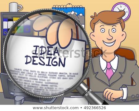 Internet Branding through Magnifier. Doodle Concept. Stock photo © tashatuvango