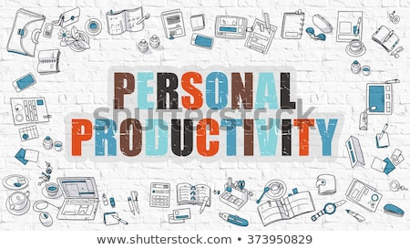 Personal Productivity Concept. Multicolor on White Brickwall. Stock photo © tashatuvango