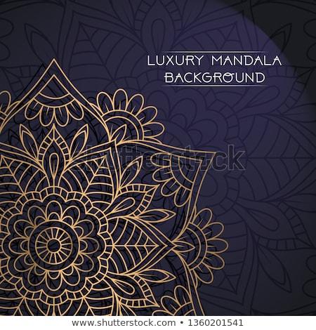 шаблон мандала украшение искусства индийской Сток-фото © SArts