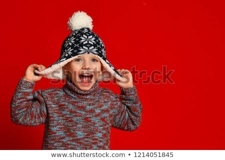 Sevimli küçük erkek komik elbise Stok fotoğraf © dariazu