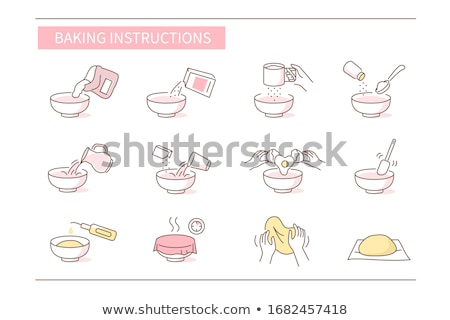 Brood gebak ingesteld dessert business Stockfoto © Genestro