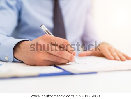 Affaires écrit document accent pointe stylo Photo stock © snowing