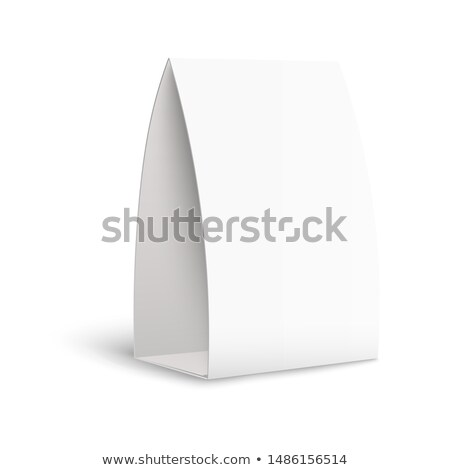 white paper stand table tag flyer vector stationery brochure paper vertical cards on white backgrou stock photo © pikepicture