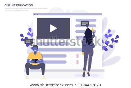 Aterrissagem página laptop aprendizagem 3D Foto stock © tashatuvango