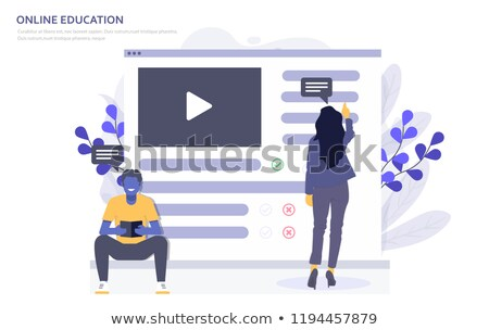 online · apprendimento · moderno · laptop · schermo · diverso - foto d'archivio © tashatuvango