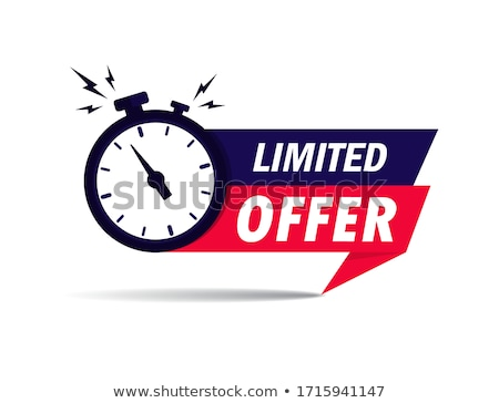 Limited time offer sticker with alarm clock Stock photo © gomixer