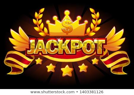 Dollarteken kroon helling achtergrond teken Stockfoto © cammep