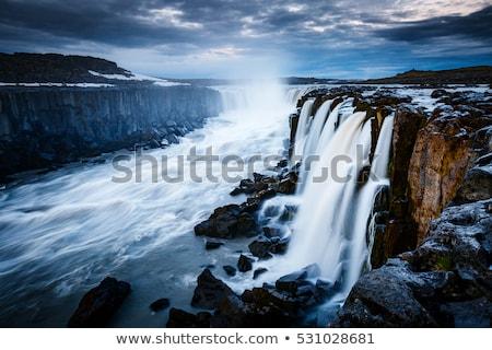 Gyors áramlás víz erőteljes vízesés népszerű Stock fotó © Leonidtit