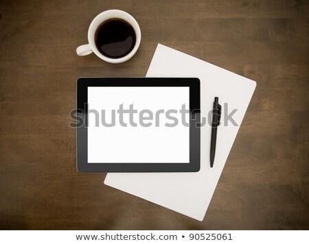 digitale · tablet · giornali · caffè · top · view - foto d'archivio © lightfieldstudios