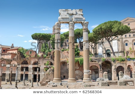 Temple of the Dioscuri - Temple of Castor and Pollux - in the Roman Forum, Rome, Italy. Stock photo © ankarb