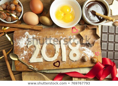 2018, baking new year Stock photo © M-studio