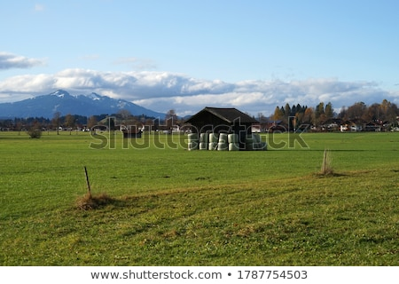 Stock photo: Typical traditional Alpine barn shed