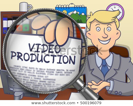 Stok fotoğraf: Video Production Through Lens Doodle Concept