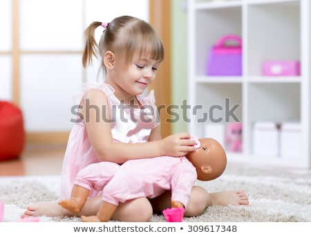 Mother and girl playing with baby Stock photo © IS2