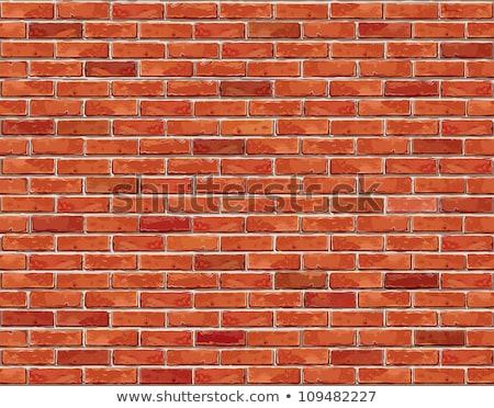 Muur vector bruin Rood bouw Stockfoto © Andrei_