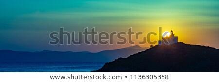 日没 ギリシャ スペース 赤 地球 軌道 ストックフォト © Harlekino