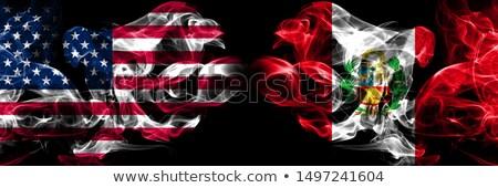 Futball lángok zászló Peru fekete 3d illusztráció Stock fotó © MikhailMishchenko