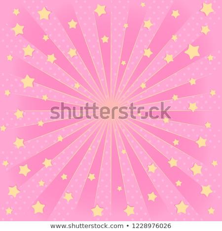 Foto d'archivio: Sale Poster With Pink Sunburst