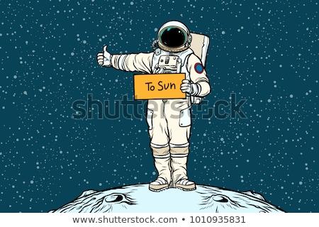 insanlık · uzay · araba · pop · art · Retro - stok fotoğraf © studiostoks