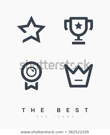 Mínimo estrellas icono diseno sitio web aplicación Foto stock © SArts