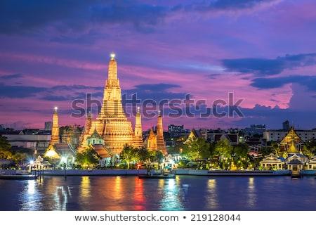 bangkok cityscaperiver scene chao phraya stock photo © carloscastilla