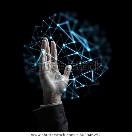 Empresário virtual baixo projeção pessoas de negócios realidade Foto stock © dolgachov