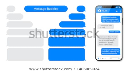 Sms smartphone felice telefono Foto d'archivio © hsfelix