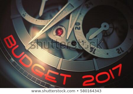 Presupuesto planificación automático mecanismo 3D Foto stock © tashatuvango