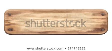 素朴な · 木製 · クロス · 白 · レンガの壁 · 木材 - ストックフォト © nito
