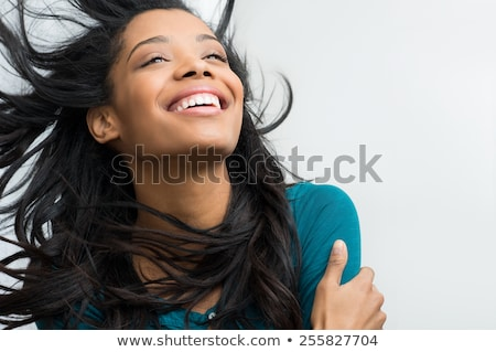 Relaxing black woman enjoying fresh wind  Stock photo © dash