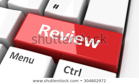 Audit Report - Text on White Keyboard Keypad. 3D. Stock photo © tashatuvango