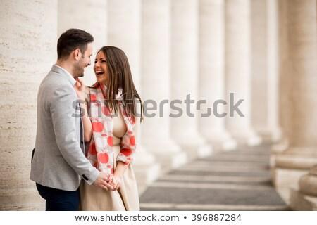 amoroso · casal · praça · vaticano · mulher · cidade - foto stock © boggy