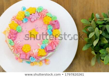 Сток-фото: крошечный · ваниль · шоколадом · клубники · торты