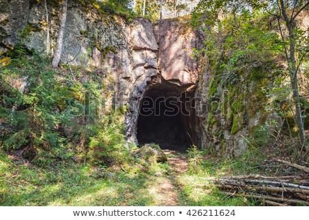 Foto stock: Escuro · assustador · rocha · caverna · ilustração · projeto