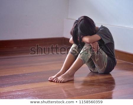 十代の少女 だけ 椅子 代 座って レジャー ストックフォト © IS2