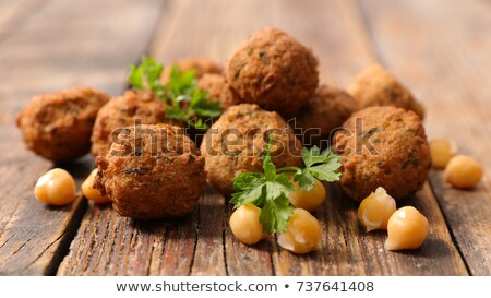 falafel on wood background stock photo © m-studio