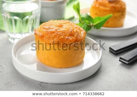 vegan · torta · di · carote · compleanno · frutta · bianco · dessert - foto d'archivio © m-studio