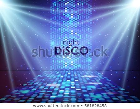 Disco strony wektora promienie disco ball muzyki Zdjęcia stock © m_pavlov