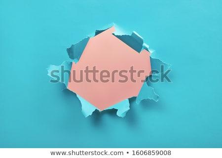 Renk yırtık kağıt eğim dizayn Stok fotoğraf © barbaliss