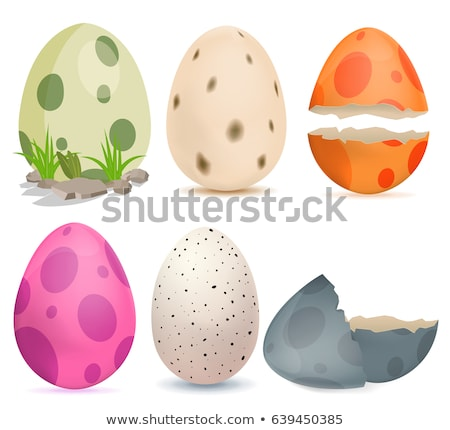 Hatched dinosaur from egg isolated. Vector illustration Stock photo © popaukropa